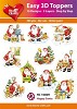Easy 3D Toppers Happy Santa