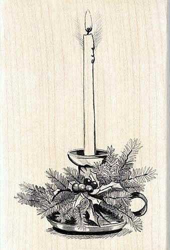 Rubber Stamp Candle 7x10cm.
