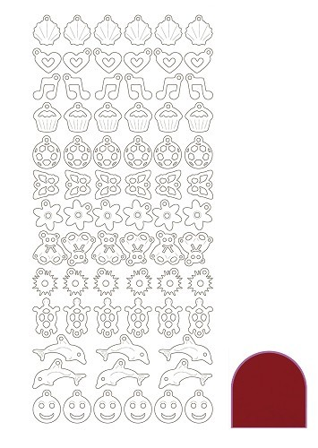 Charm sticker - Mirror Red
