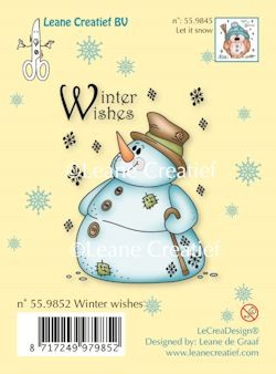 Leane Clear stamp Snowman winter wishes