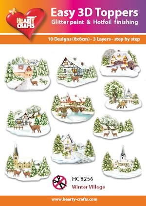 Easy 3D Toppers Winter Village