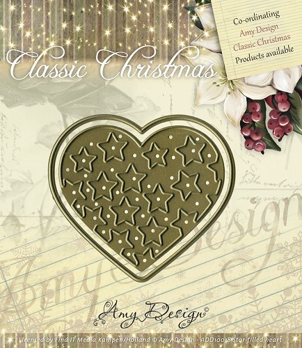 Amy Design - Die Classic Christmas Star-filled heart