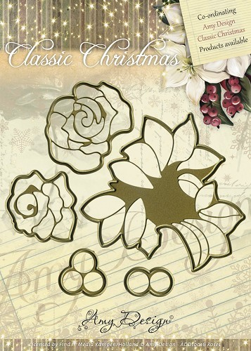 Amy Design - Die Classic Christmas Roses