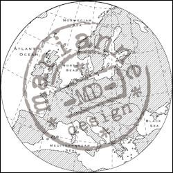 MD Clear stamp map of Europe