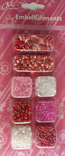 Embellishments Red Beads