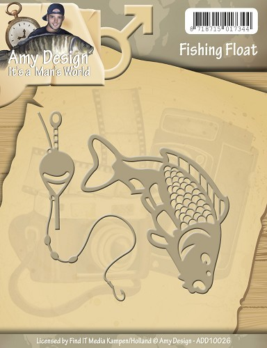 Amy Design die- Its a Mans World - Fishing Float