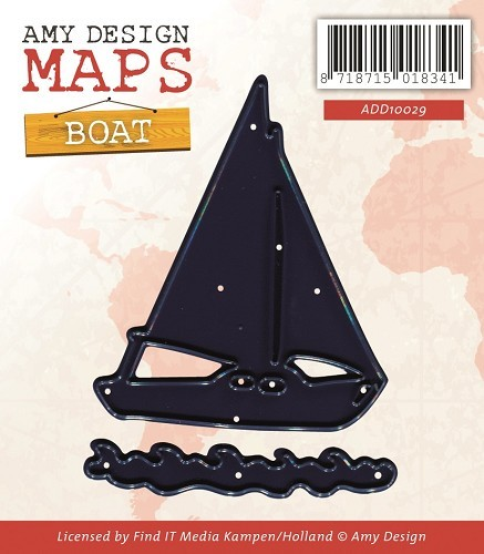 Amy Design die- Maps - Boat