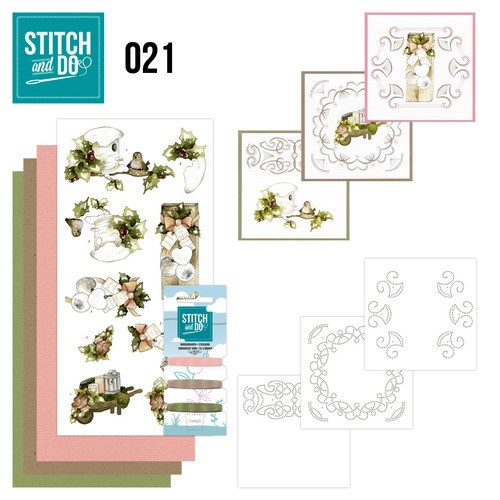 Borduurpakketje Stitch and Do 21 - Rustic Christmas
