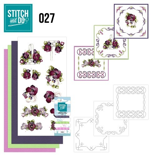 Borduurpakketje Stitch and Do 27 - Flowers