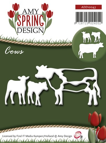 Amy Design die - Spring - Cows
