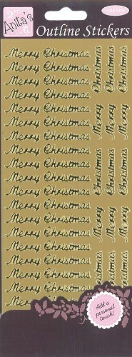 Docrafts Stickervel Merry Christmas Gold