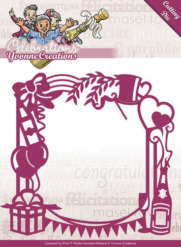 Die - Yvonne Creations - Celebrations Party Frame