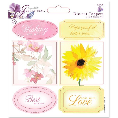 Docrafts Die Cut Toppers 12,5x12,5cm Get Well