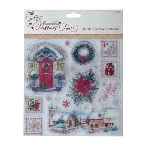 Docrafts Clear stamp set Christmas Time