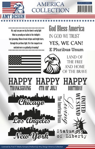 Clearstamp - Amy Design - America Collection