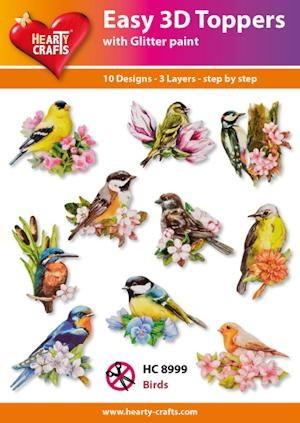 Easy 3D Toppers Birds