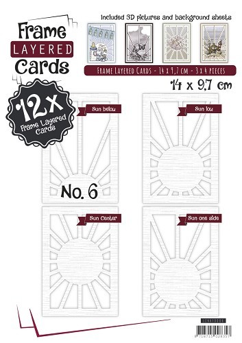 Boek Layered Frame Cards 6 - A6