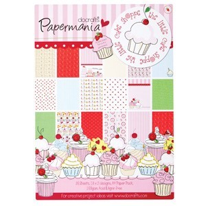 A4 paper pack (36pk) double sided - little cake shoppe