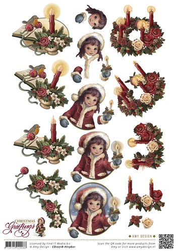 Amy Design knipvel A4 Christmas Greetings