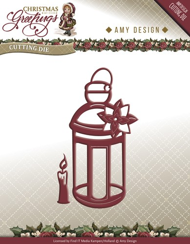 Amy Design die- Christmas Greetings Lantern