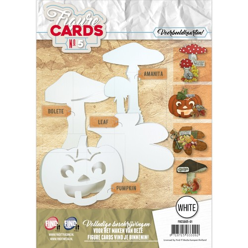 Boek Figure Cards 5 - Wit