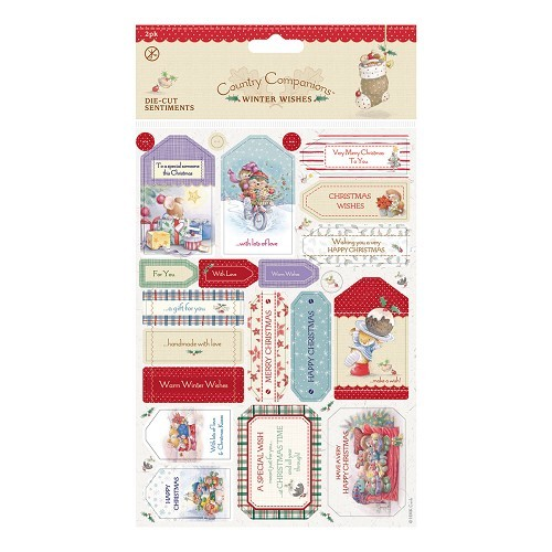 Country Companions Die-cut Labels A5 (2pk) - Winter Wishes