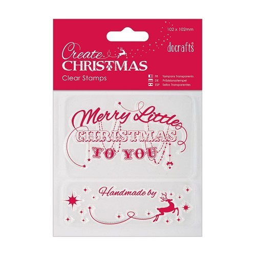 102 x 102mm Mini Clear Stamp - Create Christmas - Merry Christmas