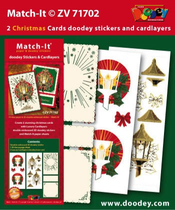 Set Match-It 3D stickers en oplegkaarten kerst