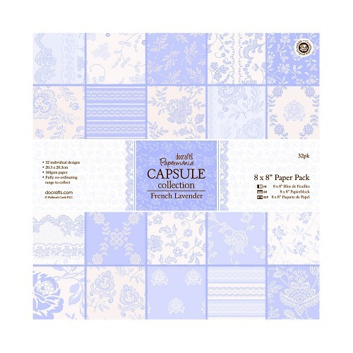 Docrafts Papermania Paper Pack 20,3x20,3 cm French Lavender