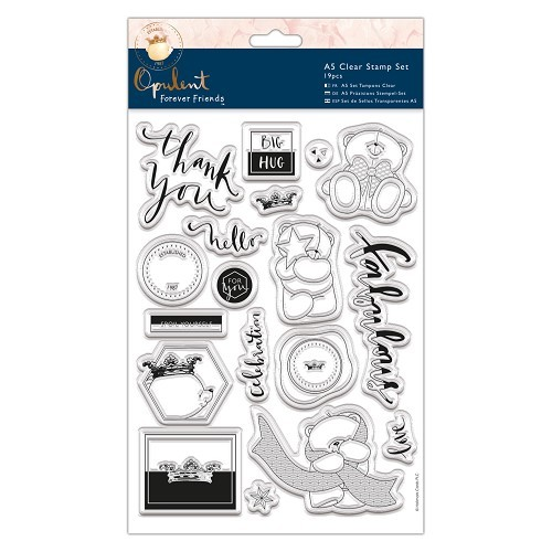 Forever Friends A5 Clearstempel set Opulent