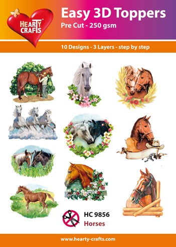 Easy 3D Toppers Horses