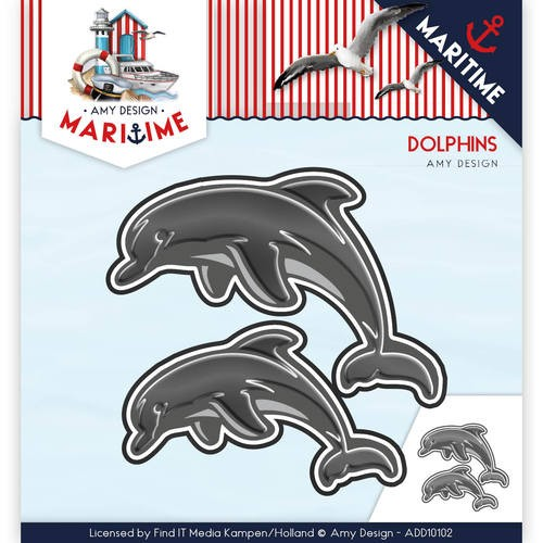 Amy Design die - Maritime - Dolphins