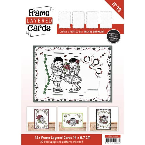 Boek Frame Layered Cards 13 - A6