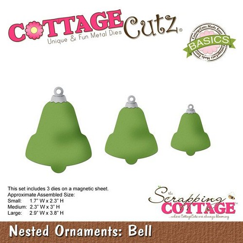 Cottage Cutz snijmal Nested Ornaments Bell