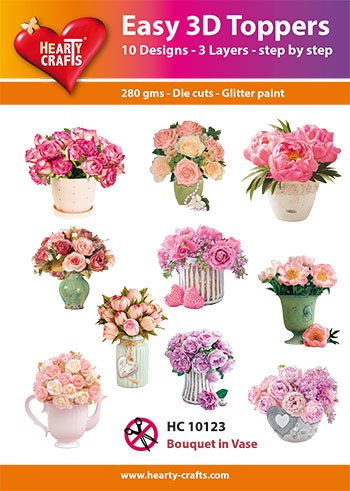 Easy 3D Toppers Flower Bouquet in Vase