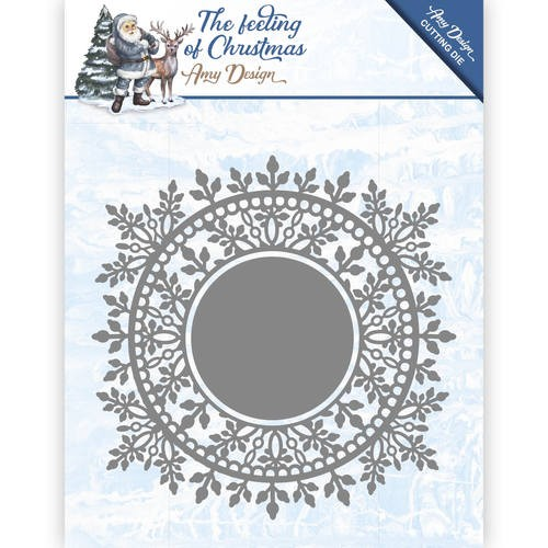 Amy Design die - The feeling of Christmas - Ice crystal circle