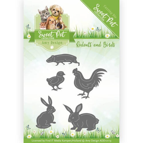Amy Design die -  Sweet Pet - Rodents and Birds