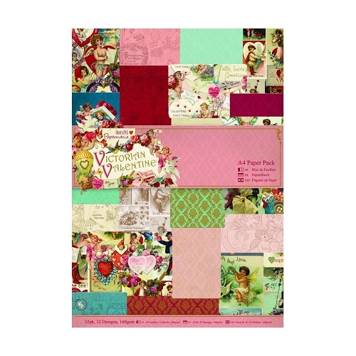 Docrafts A4 Paperpack Victorian Valentine