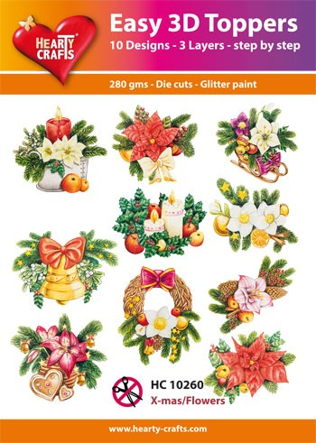 Easy 3D Toppers Christmas Flowers