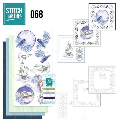 Borduurpakketje Stitch and Do 68 - Winter