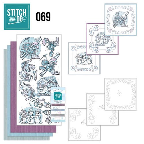 Borduurpakketje Stitch and Do 69 - Winter Classics