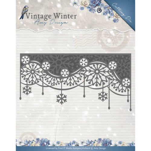 Amy Design die - Vintage Winter - Snowflake Swirl Edge