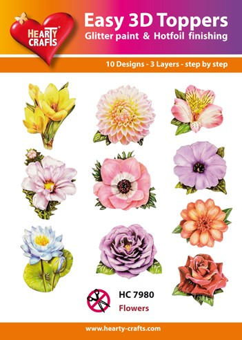 Easy 3D Toppers Flowers