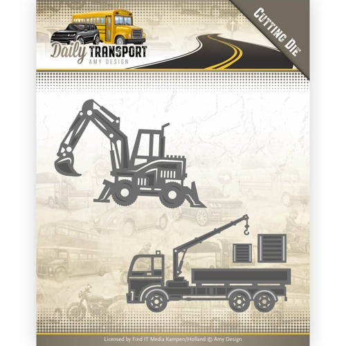 Amy Design die - Construction Vehicles