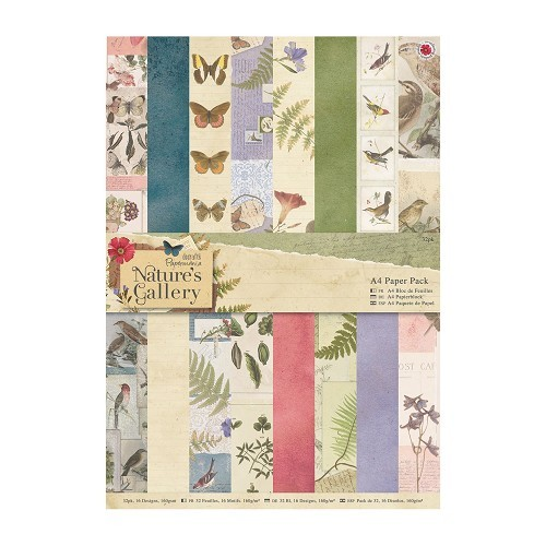 Docrafts A4 Paper Pack (32pk) - Nature`s Gallery