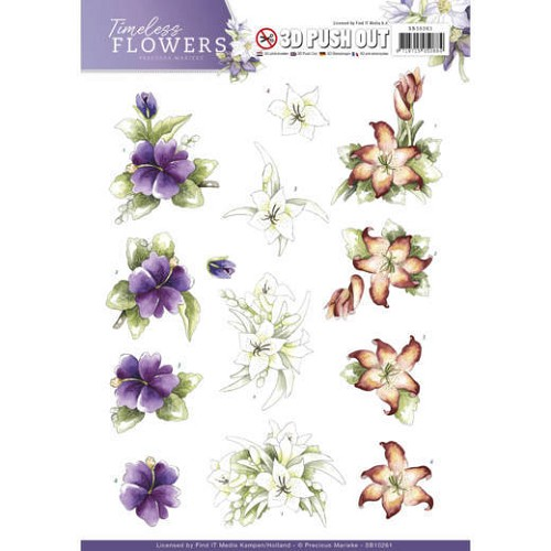 3D Push Out - Precious Marieke - Timeless Flowers - Lillies