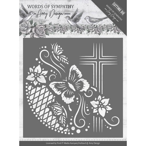 Amy Design die - Words of Sympathy  - Cross Frame