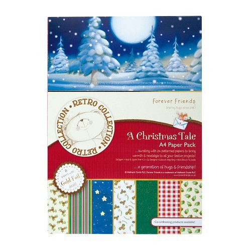 DC Foiled Paper pack A Christmas Tale 24vel A5