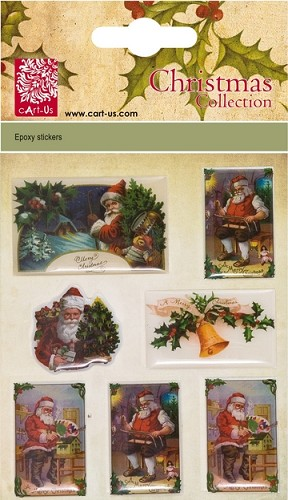 Christmas Epoxy stickers Vintage Santa