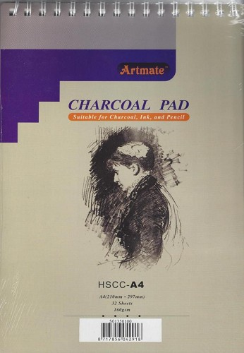 Charcoal Pad A4 32 bladen